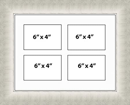 Kwik Picture Framing | MULTI APERTURE PHOTO FRAME FITS 4 6x4 PHOTOS ...