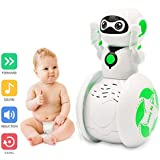 Jingjing1 Free Oscillation Rotating Intelligent Music Robot, Electronic Toys w/ Lights & Sounds, Best Early Educational Development Gift, Christmas New Year and Birthday Gift (Green)