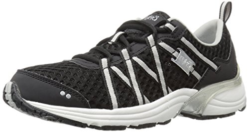 RYKA Women's Hydro Sport Water Shoe Black/Silver 7.5 M US