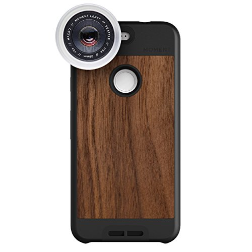 Google Pixel Case with Macro Lens Kit || Moment Walnut Wood Photo Case plus Macro Lens || Best google macro attachment lens with thin protective case. by Moment