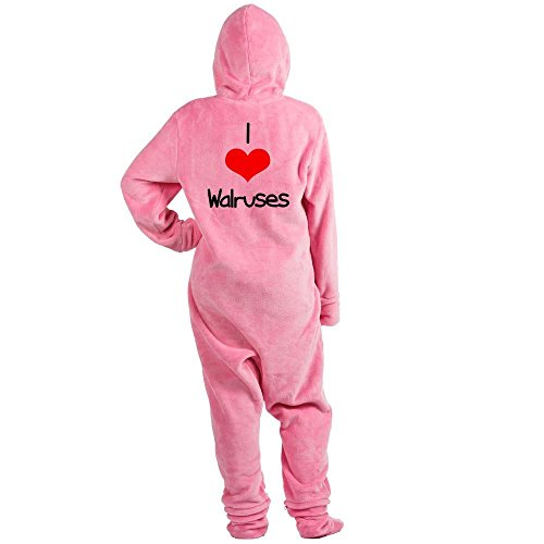 CafePress - I-Heart-Walruses.Png - Novelty Footed Pajamas, Funny Adult One-Piece PJ Sleepwear (Funny Adults Onesies)