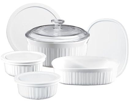 Amazoncom Corningware French White 9 Piece Bakeware Set Kitchen