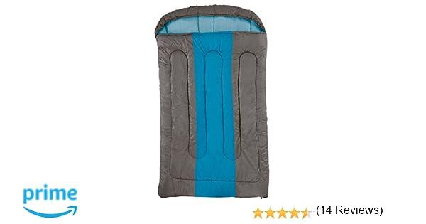 Unbekannt Hudson Coleman - Saco de Dormir Doble, Color marrón y Azul: Amazon.es: Deportes y aire libre