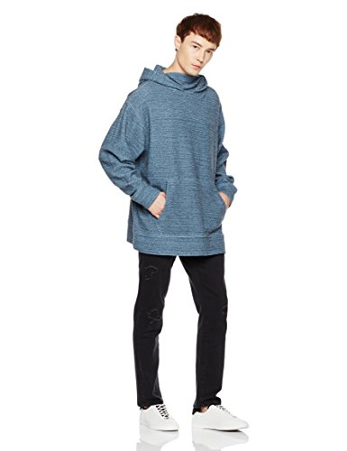Something-For-Everyone-Mens-Oversize-Two-Toned-Marled-Fleece-Hoodie