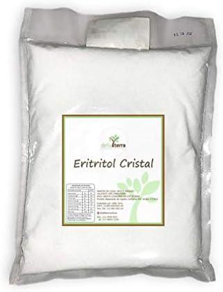 Eritritol Cristal Puro Adoçante Natural 1Kg Della Terra por Della Terra