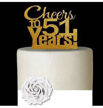 Cakesupplyshop Item 051cta 51st Birthday Anniversary Cheers