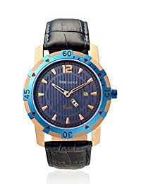 TimeSmith Limited Edition Blue Dial Blue Genuine Leather Watch for Men with Day and Date TSM-080