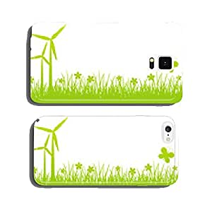 Green spring background with place for text cell phone cover case iPhone6