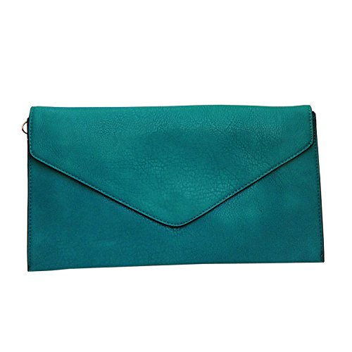 Bag New Style Leather Clutch Women Ladies Turquoise Envelope Wedding Evening Faux Purse ZZ0ATwq6