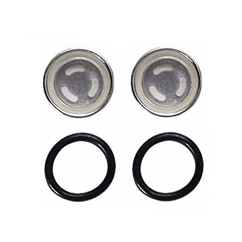 HURI 2set Brake Master Cylinder Sight Glass with O Ring for 50cc 125cc 150cc 250cc Scooter Dirt Bike ATV