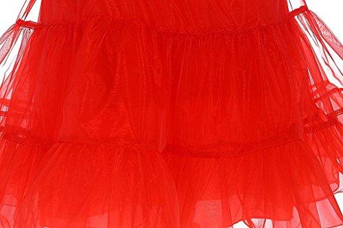 Eudolah falda style Tutu de tul elástica swing vintage para mujer Verde