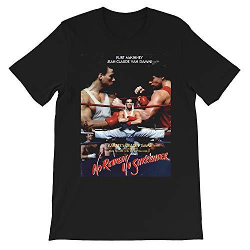 No Retreat No Surrender Pullover Jean Claude Van Damme Cult Movie Seasonal Gift Men Women Unisex T-Shirt Sweatshirt (Black-3XL)