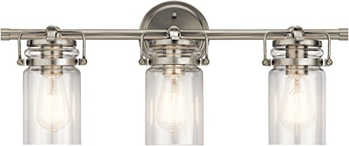 Kichler Lighting 45689NI Three Light Bath from The Brinley Collection, Brushed Nickel
