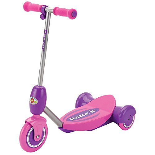 Razor Junior Lil' E 2 MPH Tripod 6V Battery Electric Scooter for Kids 3+, Pink