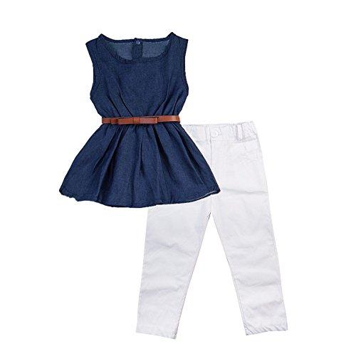 UPC 889743128673, Toddler Girls Clothes 3PCS Set Navy Tank Top And Leggings (4T)