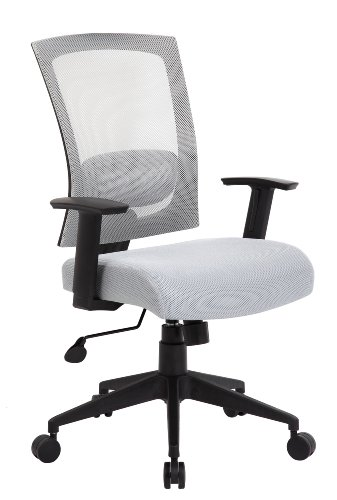 Adjustable High-Back Mesh Office Chair with Arms, Gray