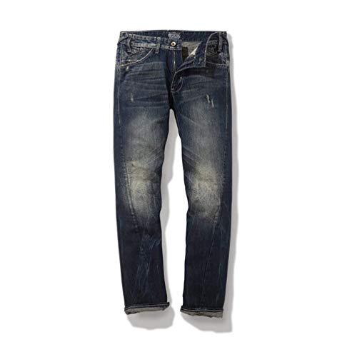 Strappo Di Mode Marca Vintage Strappati Uomo Pantaloni Mano Da Lunghi Bolawoo Con Taglio A Usati M1229 Jeans Estremo In 4wYpH