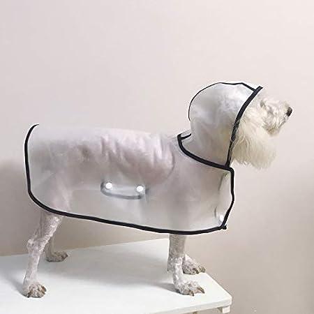 BbearT Pet impermeabile Dog Raincoat poncho ultra-leggero trasparente impermeabile con cappuccio impermeabile giacche cappotti per piccoli cani cucciolo