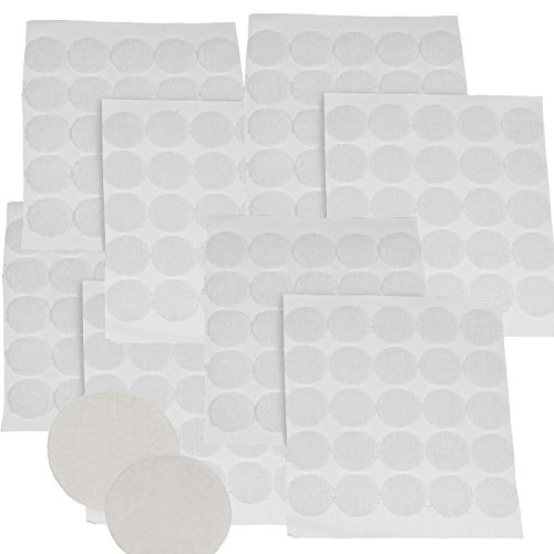 Blu Hanging (WHITE-Round-Coin-Hook-amp-Loop-Fastener-Self-Adhesive-Sticky-Back-3-4-034-Sets-of-100)