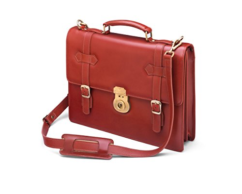 SAGEBROWN Light Tan Cambridge Briefcase With Brass (Uk Hid Light)