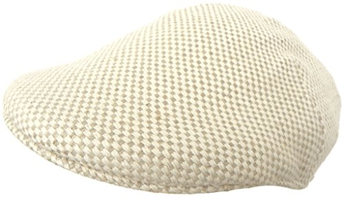 Headchange Made in USA 100% Linen Duck Bill Pub Cap (Cream/Taupe - Small/Medium)