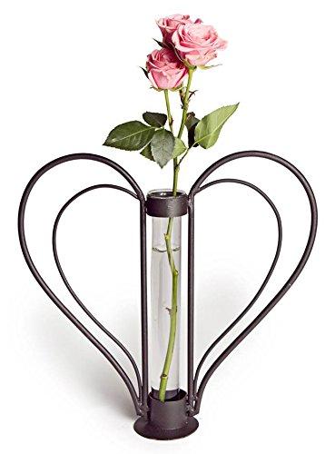Danya B Sweetheart Iron Heart-Shaped Bud Vase