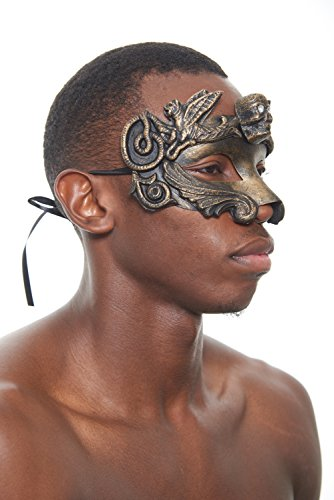Colossus Gladiator Masquerade Mask (Brown; Unisex One Size) (Colossus Costume)