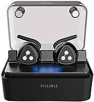 Auriculares Audifonos Bluetooth Estéreo, Syllable D900 mini Auriculares Inalámbrico deportivos in ear Bluetooth 4.1 Manos libres con Micrófono con Caja de Carga Inteligente para iPhone y otros Smart Phones-Negro