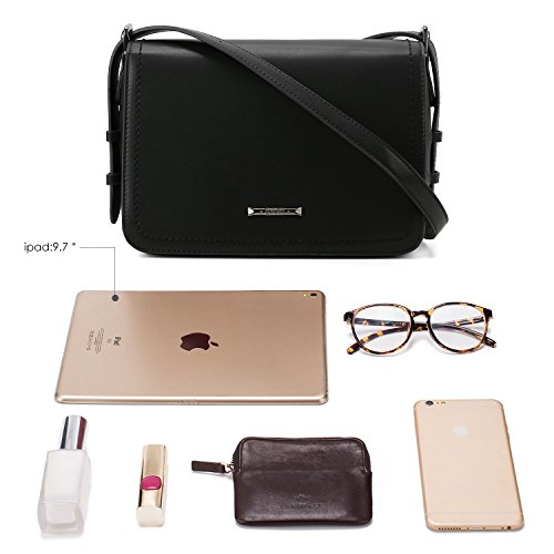 Shoulder ECOSUSI Black Large Pocket Front Strap Shoulder with Bags Adjustable nbsp;Purse amp; Fashion Women��s Crossbody Flapover wt4qTgrt