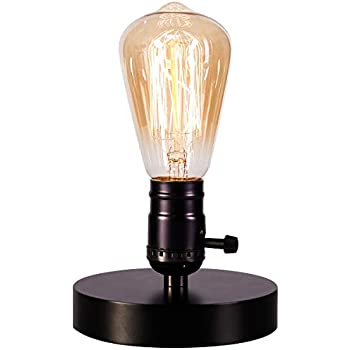 Vintage Table Lamp Base Licperron E26 E27 Industrial Vintage Desk Lamp with plug in cord On/Off Switch Bedside Lamp Holder for Home Lighting Decor
