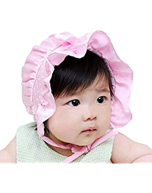 Newborn Infant Baby Boy Girl Summer Sun Protection Hat Cap Lightweight Polka Dots Beanie Sun Hat