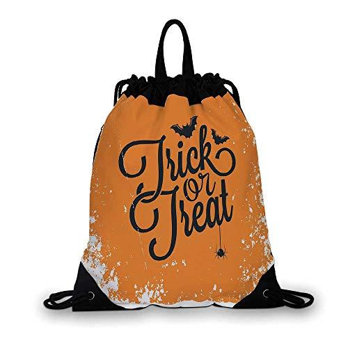 Vintage Halloween Nice Drawstring Bag,Trick or Treat Halloween
