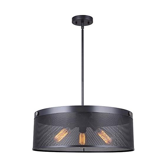 """Canarm ICH681A03GPH21 Rey 3 Light 20 1/2In Rod Chandelier - Size: 20 1/2"""" W x 16 3/4"""" - 58 3/4"""" H Chandelier Light 3 x 100W A bulbs - kitchen-dining-room-decor, kitchen-dining-room, chandeliers-lighting - 41Ci3xAMynL. SS570  -"""