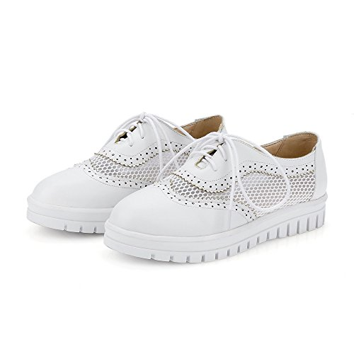 Zool Voile Mesh Mode Casual Comfort Populaire Lace Up Zomer Oxfords Schoenen Wit
