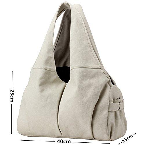 grey Bag Vintage Women's Pb White Handbag Totes Bag soar Colours 5 Slouch Shoulder Shopper Canvas Available Hobo gZPxHPw