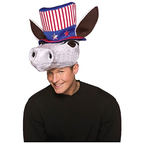 [GSG Patriotic Donkey Hat Democrat Politcial Halloween Costume Accessory Dress] (Car Costume Spider)