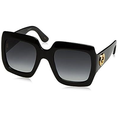Gucci GG0053S, Gafas de Sol para Mujer, Negro (Black-Grey), 54: Ropa y accesorios