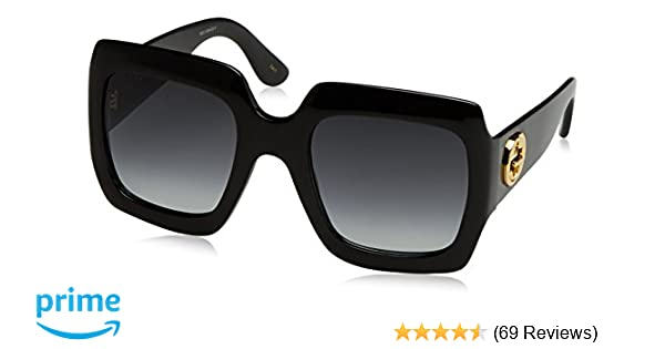 39d291c735aa Amazon.com: Gucci Womens 54MM Oversized Square Sunglasses,  Black/Black/Grey, OS: Clothing