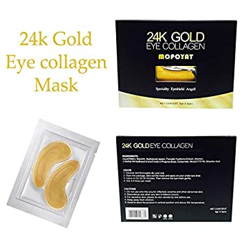 Amazon.com : 24k Gold Eye Mask Collagen Eye Pads Patches for Puffy Eyes Under Eye Bags Treatment Under Eye Patches Under Eye Dark Circles Pads Pure Eye ...