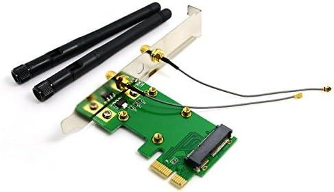 3 Antennas Mini PCIe Adapter On PCI-E WLAN Wireless Wifi Desktop Network Card