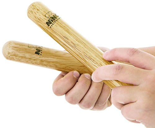 """Nino Percussion NINO502 5"""" Small Natural Wood Claves, Pair (VIDEO)"""