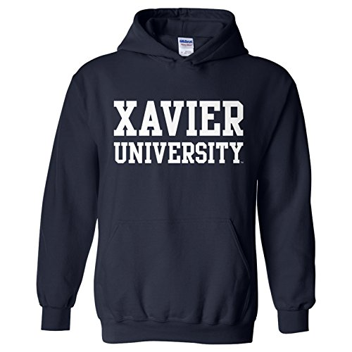 Xavier Musketeers Basic Block Hoodie - 2X-Large - Navy ()