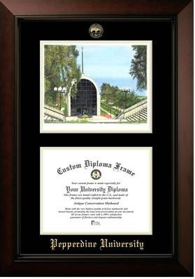 (Pepperdine University Campus Image Diploma Frame)