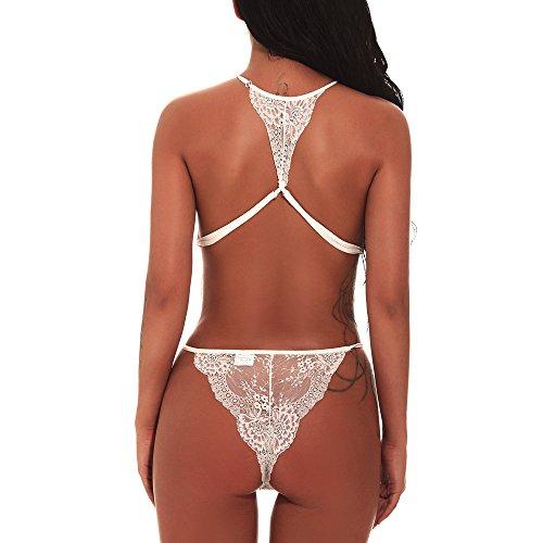 Sleepwear Lace Biancheria Lingerie Aperto Set Donna Babydoll In Sexy Nightwear Pizzo Babydoll donna WxOqTB0RB