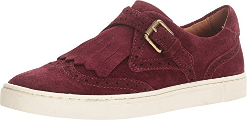 FRYE Women's Gemma Kiltie Bordeaux Oiled Suede Shoe (Kiltie Leather Slip)