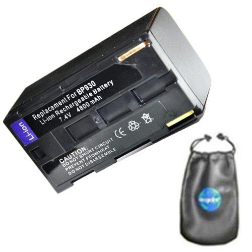 Bp 924 Camcorder (Amsahr Digital Replacement Camera and Camcorder Battery for Canon BP-911, BP-911k, BP-914, BP-915, BP-924, BP-927, BP-930, BP-930E, ES-6500V, ES-7000ES - Includes Lens Accessories Pouch)
