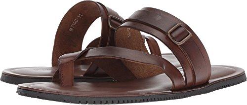 Massimo Matteo Men's Ankle Strap Sandal Marrone 9.5 D (Marrone Footwear)