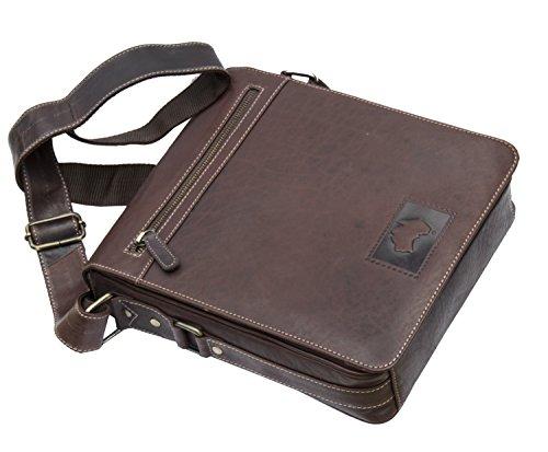 Wombat-oliato, in pelle, colore: Marrone, Netbook, ipad, Kindle Flapover-Borsa stile Messenger