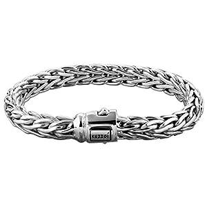 Kuzzoi Bracelet Buddha Design – En argent sterling 925 – Pour homme – Avec gravure exclusive – Largeur : 9 mm – Poids…