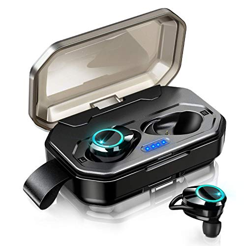 Ture Wireless Earbuds, Touch Control TWS Bluetooth 5.0 Stereo Hi-Fi Sound IPX7 Waterproof Earbuds with 3000mAh Charging Case, Noise Cancelling Wireless Headphones